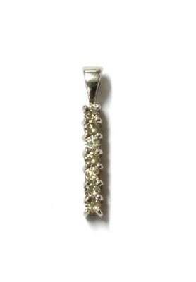 Lot 75 - A 9ct white gold diamond pendant