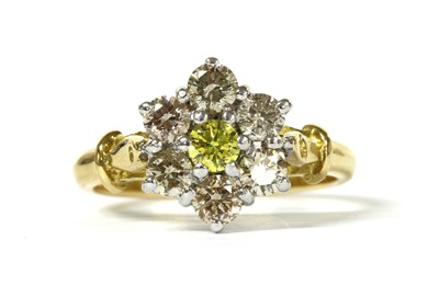 Lot 69 - An 18ct gold diamond cluster ring