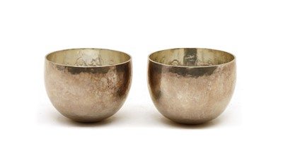 Lot 6 - A pair of Britannia silver tumbler cups