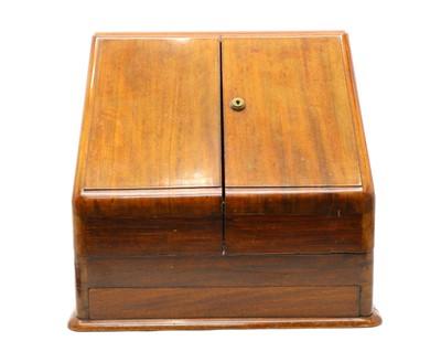 Lot 47 - An Edwardian mahogany stationary cabinet