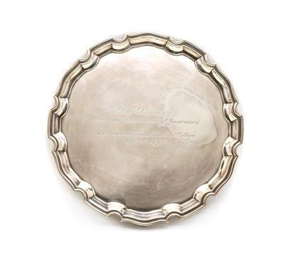 Lot 1 - A silver salver, by C J Vander Ltd