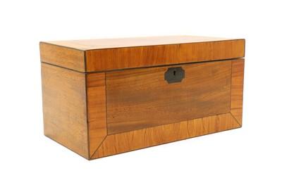 Lot 61 - A Regency mahogany tea caddy