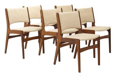 Lot 580 - Six 'Model 89' teak dining chairs