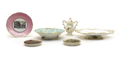 Lot 60 - Collection of 19th century plates and pot lids