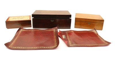 Lot 65 - A collection of five 19th century writing slopes