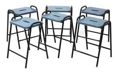 Lot 495 - A set of six 'Science lab' stools