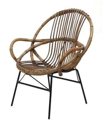 Lot 440 - A rattan armchair