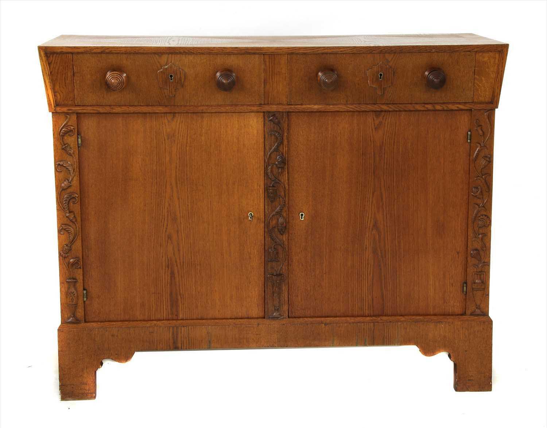 Lot 12 - A Viennese oak sideboard