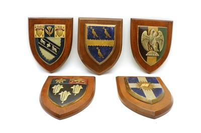 Lot 40 - A collection of twelve heraldic plaques