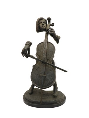 Lot 88 - A Pacific Art sculpture of a cellist