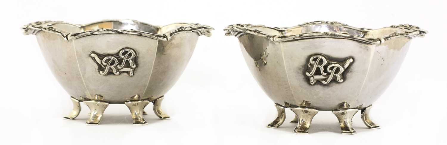 Lot 69 - A pair of Arts and Crafts silver bowls