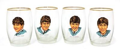 Lot 530 - A set of The Beatles glasses