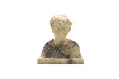 Lot 59 - An Italian carved marble and alabaster bust