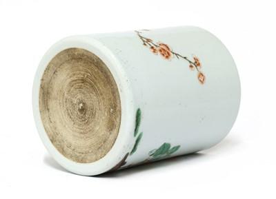 Lot 43 - A Chinese wucai brush pot