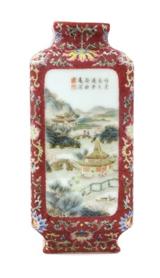 Lot 66 - A Chinese famille rose vase