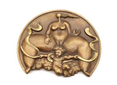 Lot 75 - A bronze medallion