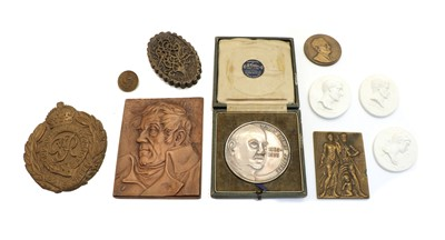 Lot 80 - A collection six commemorative plaques and medallions