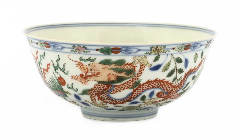 Lot 68 - A Chinese wucai bowl