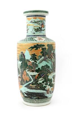 Lot 48 - A Chinese famille verte vase