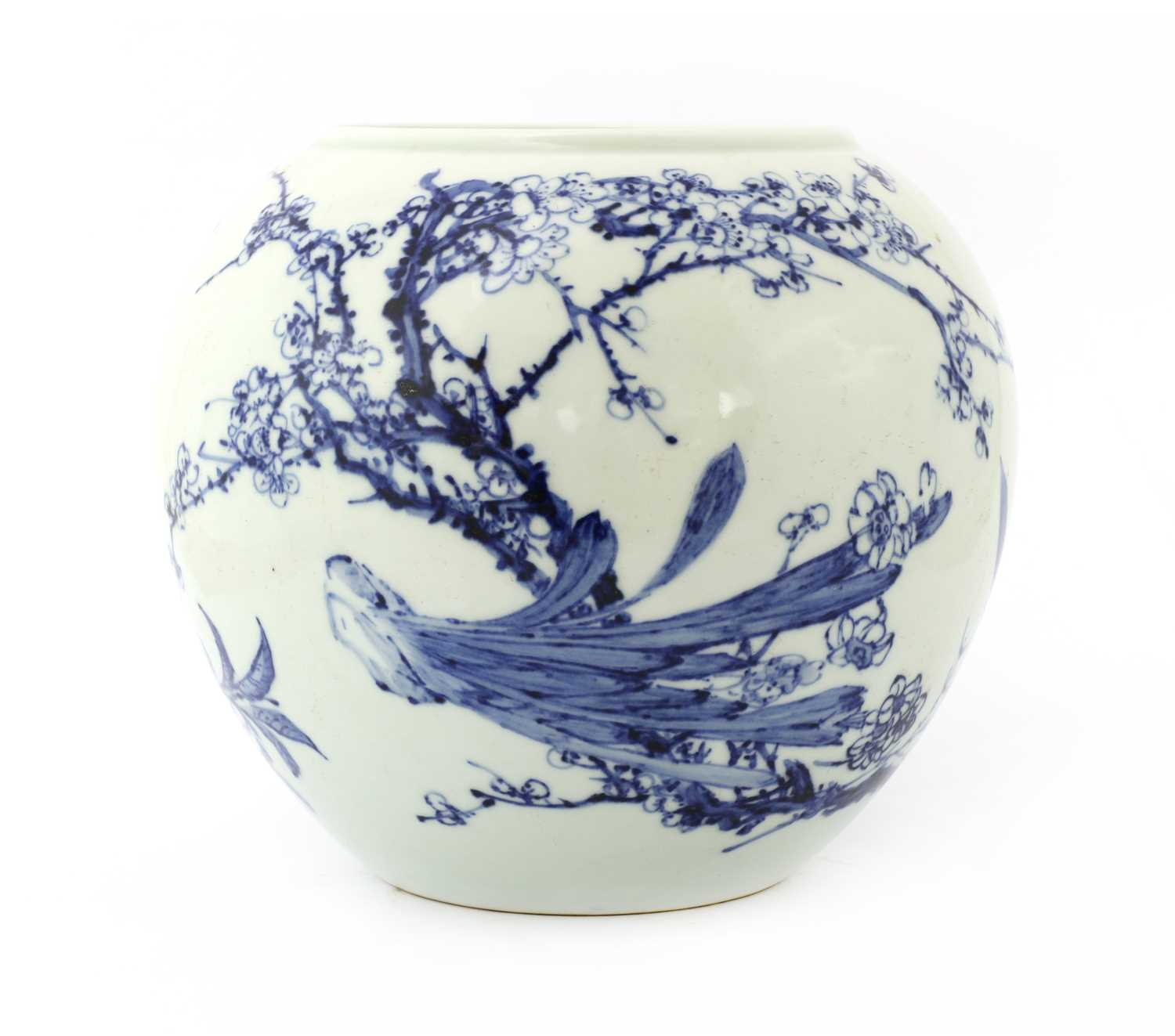 Lot 63 - A Chinese blue and white jar
