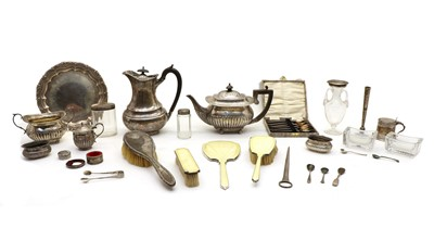 Lot 14 - A collection of silver and silver plate