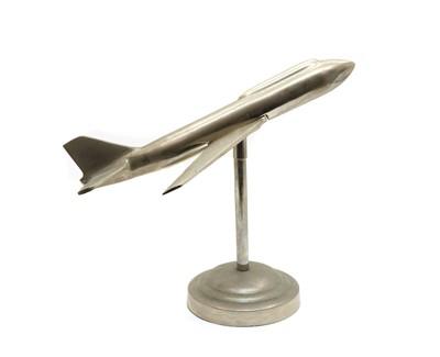 Lot 60 - An Art Deco style chrome model of an aeroplane