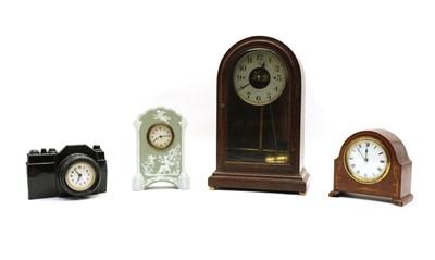 Lot 107 - An oak cased Bulle Patent mantel clock
