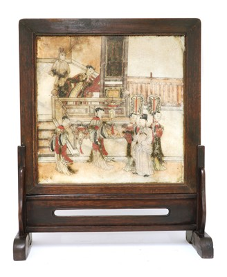 Lot 188 - A Chinese table screen