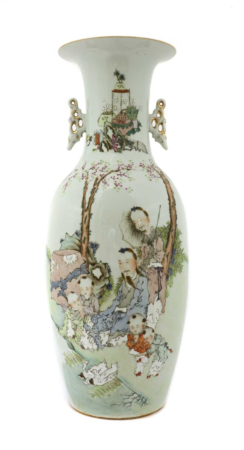 Lot 70 - A Chinese famille rose vase