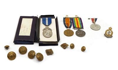 Lot 39A - A First World War medal group