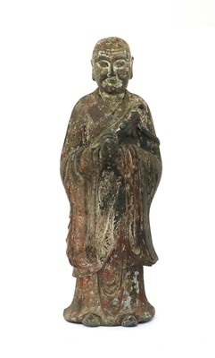 Lot 132 - A Chinese bronze luohan