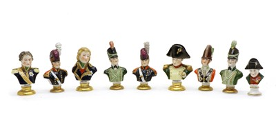 Lot 108 - A collection of eight Rudolf Kämmer porcelain busts