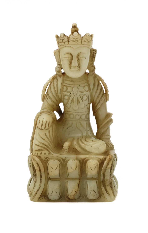 Lot 79 - A Chinese jade bodhisattva