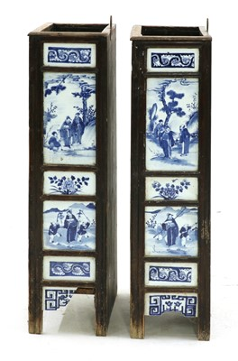 Lot 36 - Two Chinese umbrella stands