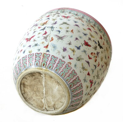 Lot 54 - A Chinese famille rose fishbowl