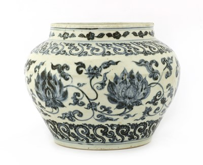 Lot 20 - A Chinese blue and white jar