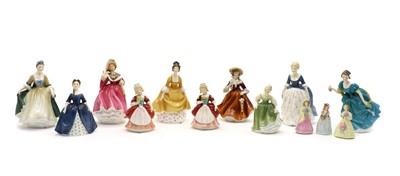 Lot 113 - Nine Royal Doulton figures