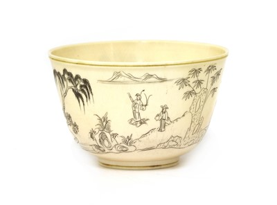 Lot 172 - A Chinese ivory bowl