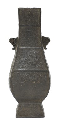 Lot 101 - A Chinese bronze vase