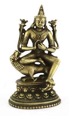 Lot 125 - A Tibet bronze bodhisattva