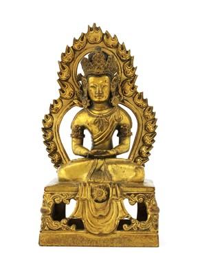 Lot 128 - A Chinese gilt-bronze bodhisattva