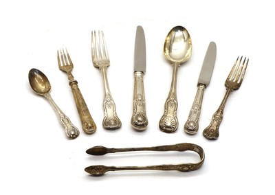 Lot 8 - A quantity of various Kings pattern silver cutlery