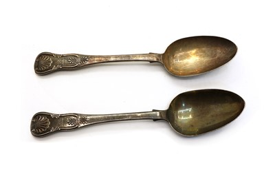 Lot 6 - A pair of Kings pattern silver tablespoons