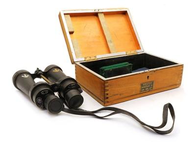 Lot 15 - A Royal Navy & RAF Coastal Command Barr & Stroud CF42 7X cased binoculars