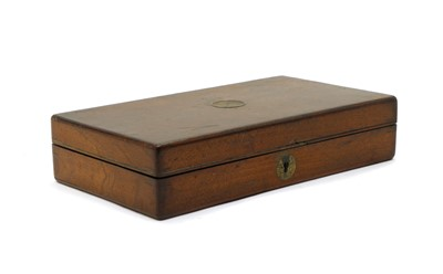 Lot 24 - A Victorian mahogany revolver case, by Cogswell & Harrison