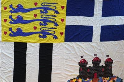 Lot 54A - A Duke of Edinburgh's original stitched panel personal Royal Standard
