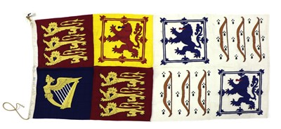 Lot 48A - HM Queen Mother original stitched panel personal Royal Standard