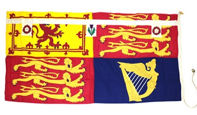 Lot 47A - HM Queen Margaret original stitched panel personal Royal Standard