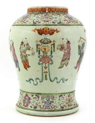 Lot 51 - A Chinese famille rose vase