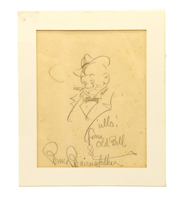Lot 57A - Bruce Bairnsfather, 'Ullo from Old Bill' , pencil sketch, signed